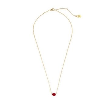 KETTING SOLO STONE GOUD ROOD